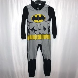 Batman Boys Zip Up Full Body Pajama Size Medium